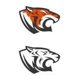 Plantilla del logotipo con la cabeza del tigre Imágenes de archivo libres de regalías