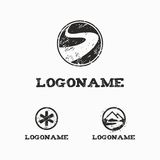 Plantilla del logotipo con rascado Imagenes de archivo