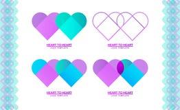 Plantilla del logotipo con un corazón, Imágenes de archivo libres de regalías