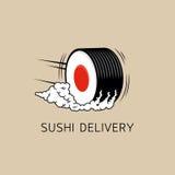 Plantilla del logotipo de la entrega del sushi (concepto) Ilustración del vector Stock de ilustración