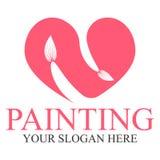 Plantilla del logotipo de la pintura Imagen de archivo