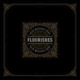 Plantilla del logotipo de los Flourishes Imagen de archivo
