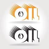 Plantilla del logotipo del aceite Fotografía de archivo libre de regalías