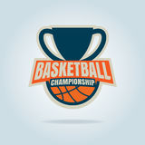 Plantilla del logotipo del baloncesto Imagenes de archivo