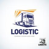 Plantilla del logotipo del camión Logotipo logístico del truco Ilustración aislada del vector stock de ilustración