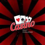 Plantilla del logotipo del casino Foto de archivo libre de regalías