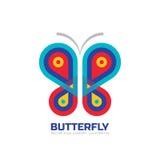 Plantilla del logotipo del vector de la mariposa Salón de belleza - ejemplo creativo de la muestra Icono abstracto Elemento del d Imagen de archivo