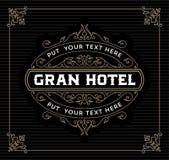Plantilla del logotipo del vintage, hotel, restaurante, negocio o boutique I Foto de archivo libre de regalías