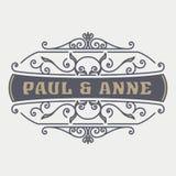 Plantilla del logotipo del vintage, hotel, restaurante, negocio o boutique I Imagen de archivo