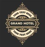 Plantilla del logotipo del vintage, hotel, restaurante, sistema de la identidad del negocio Fotos de archivo