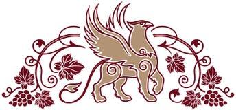 Plantilla del logotipo para la tienda del lagar o de vino o el elemento de la etiqueta del vino Imagen de archivo libre de regalías