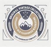 Plantilla del logotipo del vintage, hotel, restaurante, negocio o boutique I Fotografía de archivo libre de regalías