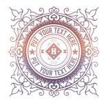Plantilla del logotipo del vintage, hotel, restaurante, sistema de la identidad del negocio Imagen de archivo
