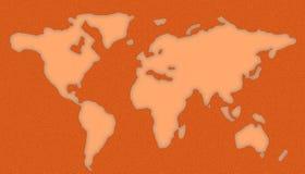 Plantilla del mapa del mundo Imagen de archivo