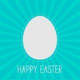 Plantilla del marco del huevo de Pascua. Línea de la rociada. Fondo del resplandor solar. Tarjeta Fotos de archivo libres de regalías