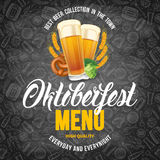 Plantilla del menú de Oktoberfest ilustración del vector
