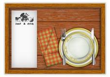 Plantilla del menú del restaurante imagen de archivo