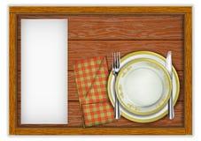 Plantilla del menú del restaurante fotografía de archivo