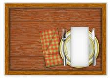 Plantilla del menú del restaurante fotos de archivo