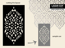 Plantilla del modelo del corte del laser ilustración del vector
