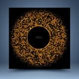 Plantilla del mosaico del oro Imagen de archivo libre de regalías