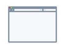 Plantilla del navegador de Internet Fotos de archivo
