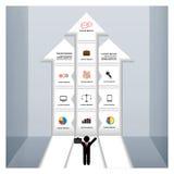 Plantilla del negocio con las flechas Imagen de archivo libre de regalías