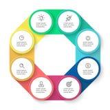 Plantilla del negocio de Infographic imagen de archivo libre de regalías