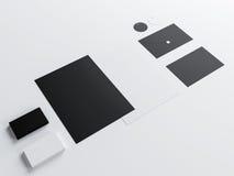 Plantilla del negocio de la maqueta fijada en el fondo blanco Fotos de archivo