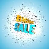 Plantilla del negocio de la venta de Bigbang Fondo de la venta Vector Foto de archivo libre de regalías