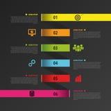 Plantilla del negocio del espiral de Infographic con las etiquetas de papel Vector stock de ilustración