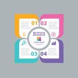 Plantilla del negocio, papel del número, temlate cortado Plantilla creativa conceptual, elementos del infographics Imágenes de archivo libres de regalías