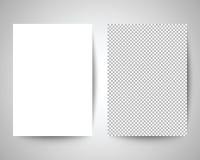 Plantilla del papel en blanco a4 Imagen de archivo