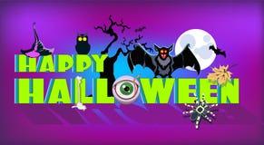 Plantilla del partido de Halloween Tarjeta de la invitación o de felicitación libre illustration