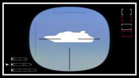 Plantilla 02 del periscopio submarino Imagen de archivo libre de regalías