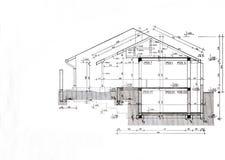 Plantilla del plan de la casa Fotografía de archivo libre de regalías