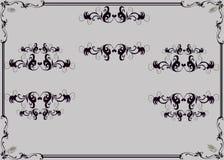 Plantilla del prospecto para el salón de la manicura Manos femeninas elegantes en diversos gestos Imagen de archivo libre de regalías