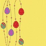 Plantilla del saludo de Pascua Fotografía de archivo libre de regalías