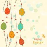 Plantilla del saludo de Pascua Imagenes de archivo