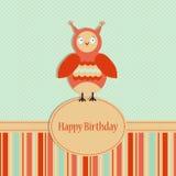Plantilla del saludo del cumpleaños Imágenes de archivo libres de regalías
