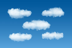 Plantilla del servicio de la nube Fotografía de archivo