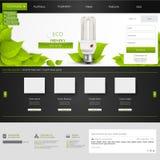 Plantilla del sitio web de Eco para su negocio Imagenes de archivo