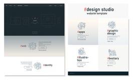 Plantilla del sitio web del estudio del diseño Fotografía de archivo libre de regalías