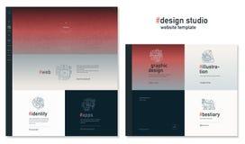 Plantilla del sitio web del estudio del diseño Foto de archivo