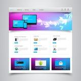 plantilla del sitio web del negocio Imagen de archivo libre de regalías