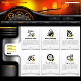 Plantilla del sitio web del servicio del automóvil Fotos de archivo