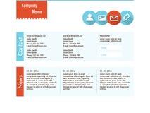 Plantilla del sitio web en diseño plano Foto de archivo libre de regalías