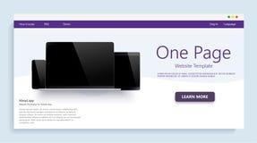 Plantilla del sitio web para los sitios web, o apps Fpr moderno de las maquetas de los dispositivos sus proyectos del negocio web ilustración del vector