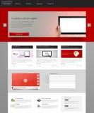 Plantilla del sitio web para su negocio Fotos de archivo