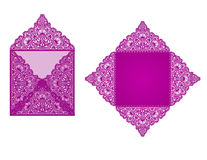Plantilla del sobre del corte del laser del cuadrado libre illustration